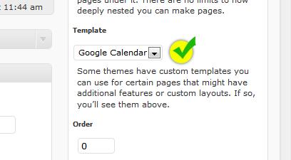 Change WordPress page template